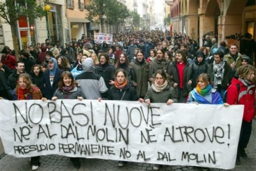 Protest Against New U.S. military Bases in Italy
